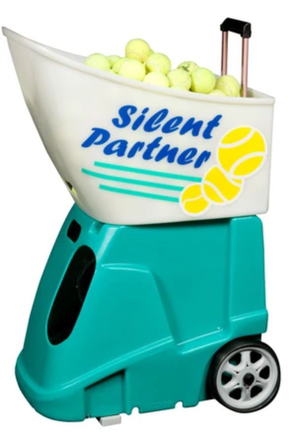 silent partner quest scoop tennis ball machine picture