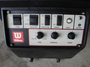 wilson portable tennis ball machine control panel